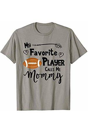American Football Sports Fan Designs Co. My Favorite Player Calls Me Mommy Football Sports Fan Gift T-Shirt