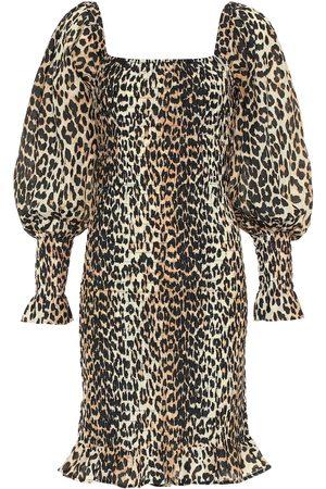 Ganni Cotton and silk minidress