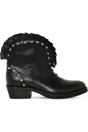 Balmain Girls Boots - Studded Faux Leather Boots