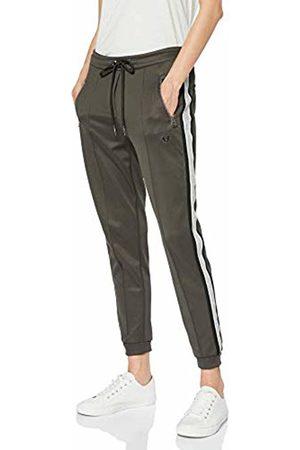 True Religion Women's Contrast Stripe Pant Ebony Sports Trousers, 1345