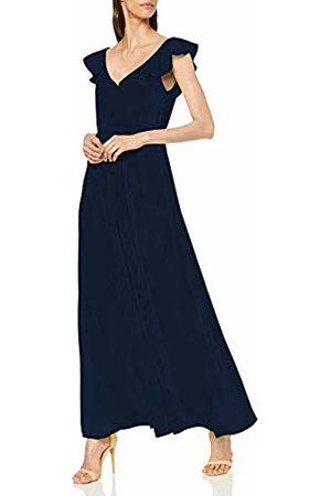 Vila Women's Virannsil S/l Maxi Dress/za, Navy Blazer