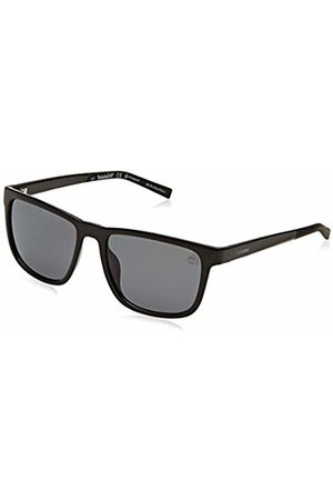 Timberland Men's TB9162 Sunglasses, (Shiny /Smoke Polarized)