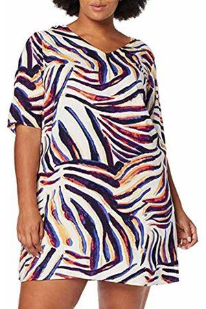 JUNAROSE Women's Jrzana Zeenan 2/4 Sl Abk Dress-K, (Sand Dollar AOP)