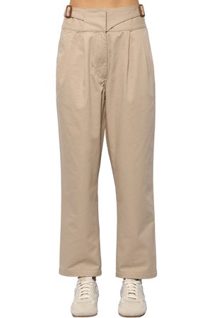 Loewe Women Chinos - Chino Cotton Canvas Crop Pants