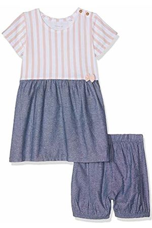 Name it Baby Girls' Nbfjill Ss Dress W Bloomer Clothing Set, Strawberry Cream