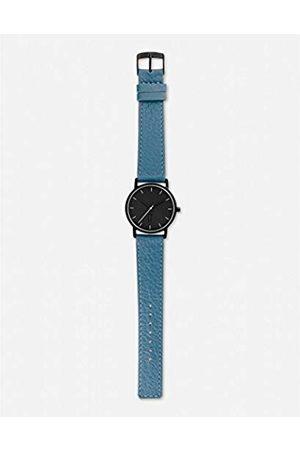 La Trotteuse Unisex-Adult Analogue Classic Quartz Watch with Leather Strap LT015