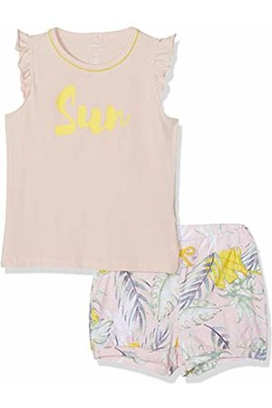 Name it Girl's Nmfjasine Ss Shortset Clothing Set, Strawberry Cream