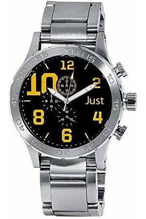 Just Watches Men's Watch XL Analogue Quartz Stainless Steel 48 S5543BK YL