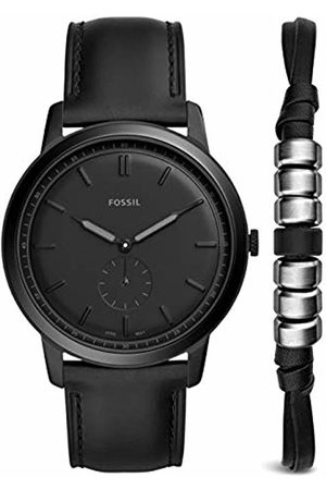 Fossil Mens Analogue Quartz Watch with Leather Strap FS5500SET