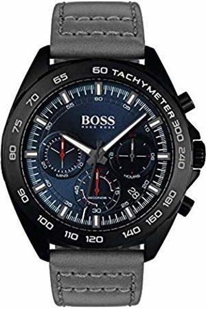 HUGO BOSS Mens Chronograph Quartz Watch with Leather Strap 1513679