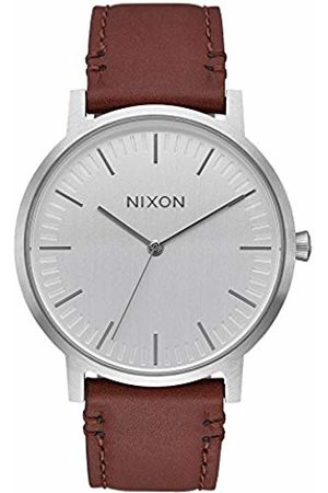 Nixon Unisex Adult Analogue Quartz Watch with Leather Strap A1058-1113-00
