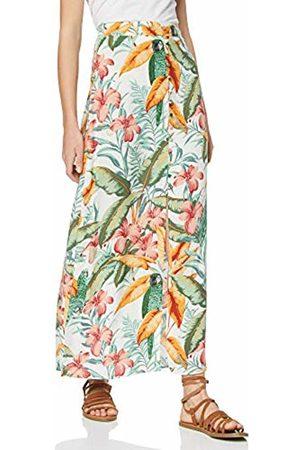 warehouse Women's Hidden Parrot Print Maxi Skirt, (Ivory 04)
