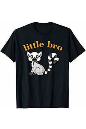 Kids tees with funny animals Funny Little Bro and a small cute Lemur on a kids t-shirt T-Shirt