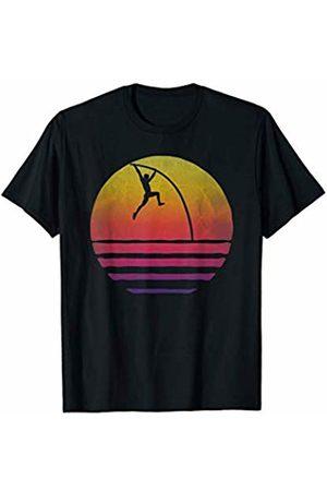 Merchalize Retro Vintage Sunset Old School Pole Vault Athlete Funny T-Shirt