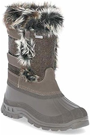 Trespass Women Snow Boots - Brace, Peat, 37, Waterproof Winter Boots for Women, UK Size 4