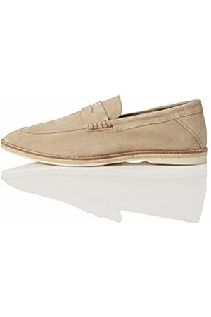 FIND Jute Sole Soft Leather Loafers, Taupe