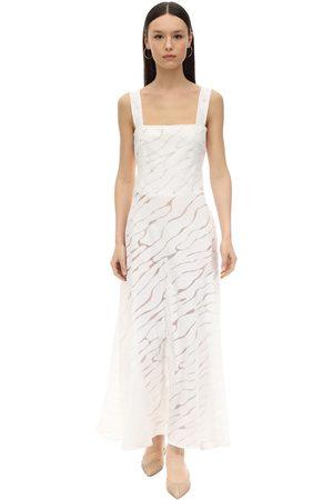 GIOIA BINI Women Midi Dresses - Lucinda Zebra Voile Midi Dress