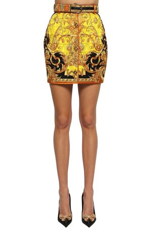 VERSACE Quilted Silk Twill Mini Skirt