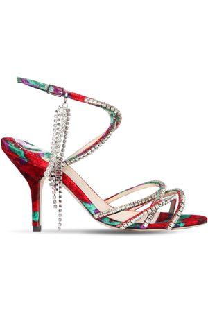 MAGDA BUTRYM Women Sandals - 90mm Berlin Crystals Velvet Sandals