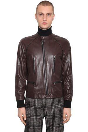 Dolce & Gabbana Plongé Leather Blouson Jacket