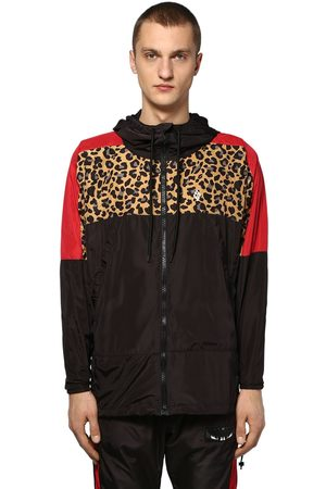 MARCELO BURLON Men Jackets - Hooded Zip-up Tech Windbreaker