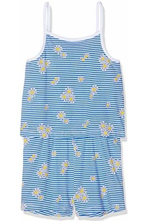 Name it Girl's Nmfvigga Strap Suit H Dungarees, (Bright Detail: with Stripes and Flowers)