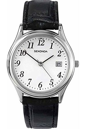 Sekonda Men's Quartz Watch with Dial Analogue Display and Leather Strap 3473.27