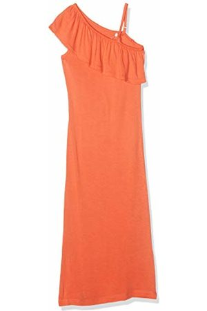 Name it Girl's Nkfhappy Sl Maxi Dress Emberglow