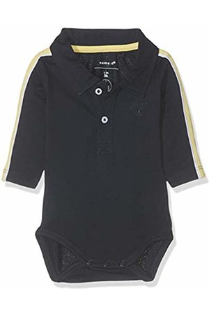 Name it Baby Boys' Nbmhesonne Ls Polo Body Footies, Dark Sapphire