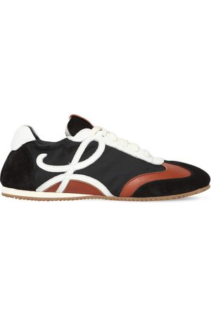 Loewe Women Trainers - 10mm Nylon & Suede Sneakers