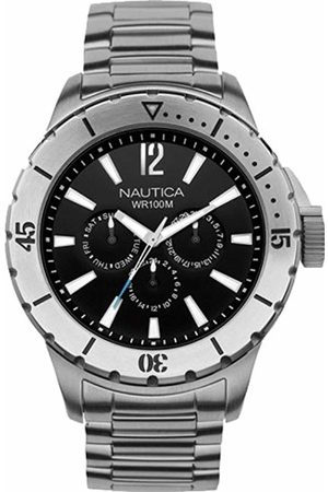 Nautica Men's Quartz Watch with Dial Chronograph Display and Stainless Steel Bracelet A19569G