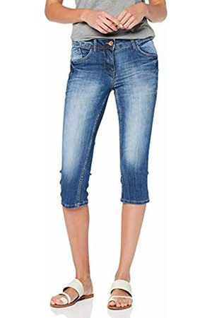 Cecil Women's 372298 Charlize Slim Jeans, (Authentic Used wash mid 10275)