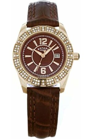 Rotary Women's Quartz Dial Analogue Display and Leather Strap LS30021/16