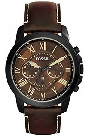 Fossil Mens Chronograph Quartz Watch with Leather Strap FS5088