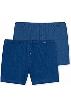 Schiesser Men's Essentials Boxershorts (2er Pack) Vest, (Blau 800)