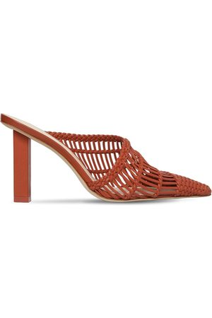 Cult Gaia Women Sandals - 90mm Raya Woven Leather Mules