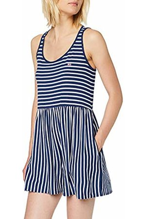 Tommy Hilfiger Women's Tjw Summer Stripe Playsuit Dress, Estate /Classic 419