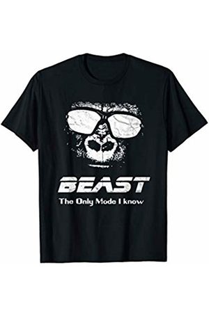 Checkertone Workout Gym Shirts Workout Gym or Yoga : BEAST is my only mode Funny Gorilla T-Shirt