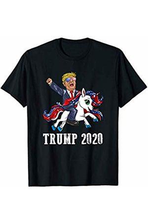 Trump 2020 Republican Election Apparel Trump 2020 Flag Sunglasses Riding American Unicorn T-Shirt