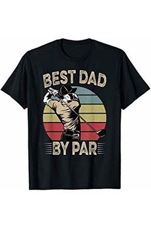 Fathers Day Gift Shirts HQ Mens Best Dad By Par Retro Vintage Father's Day Golf T-Shirt