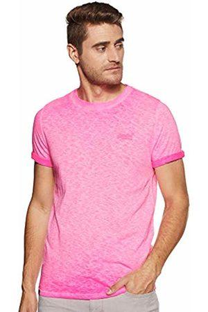 Superdry Men's Low Roller Tee T-Shirt, (Deep Pop Ps4)