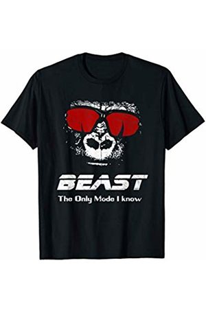 Checkertone Workout Gym Shirts BEAST The only mode I know Shirt - Funny Workout Gym Yoga T-Shirt