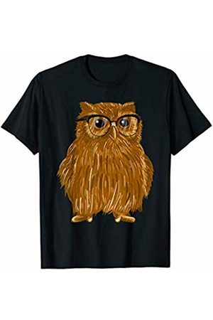 Owl Hoot Vibes Tees Owl With Glasses Regular Nocturnal Bird Of Prey Cool Gift T-Shirt