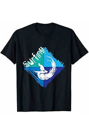 Funny Summer Surf T-Shirts and Gifts Cool Surfing Silhouette Surfer Shirt Vintage Surfing Sports T-Shirt