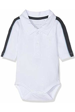 Name it Baby Boys' Nbmhesonne Ls Polo Body Footies, Bright