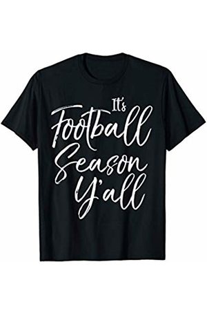 It's Football Time Y'all Design Studio Cute Southern Sports Saying Gift It's Football Season Y'all T-Shirt