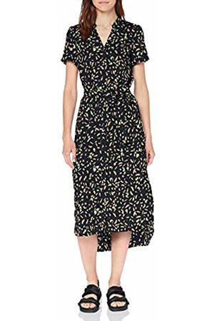 Vero Moda Women's Vmnatasia Dalion S/s Shirt Dress Exp (Night Sky AOP: Dots)