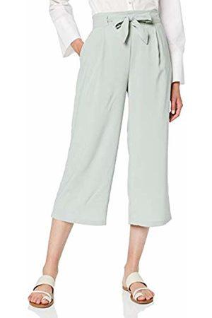 New Look Women's Wide Leg Trousers Emerald Tie Waist, 34 EU
