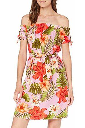 Vero Moda Women's Vmefie Milo Off Shoulder Short Dress WVN (Prism AOP: Efie)
