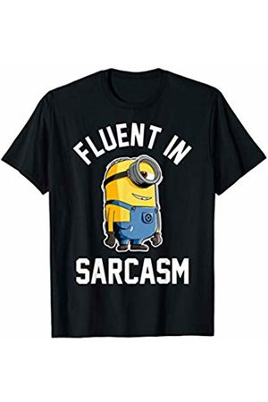 Minions Minions Fluent In Sarcasm Smirk Portrait T-Shirt